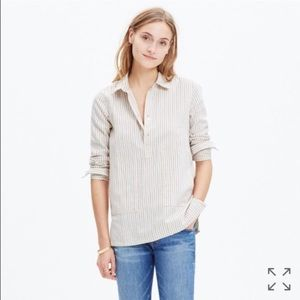 Madewell Striped Pocket Popover Top